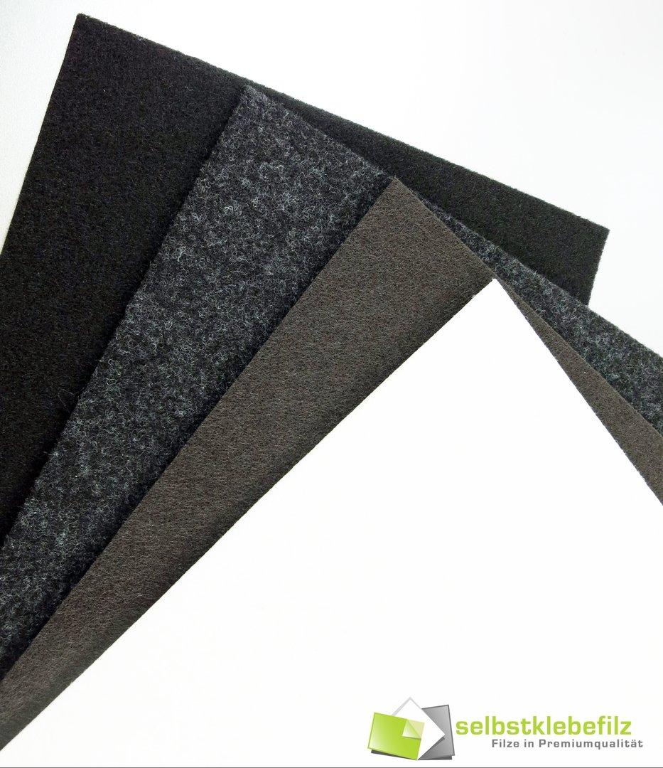 filz meterware 3mm dick selbstklebend schwarz grau. Black Bedroom Furniture Sets. Home Design Ideas