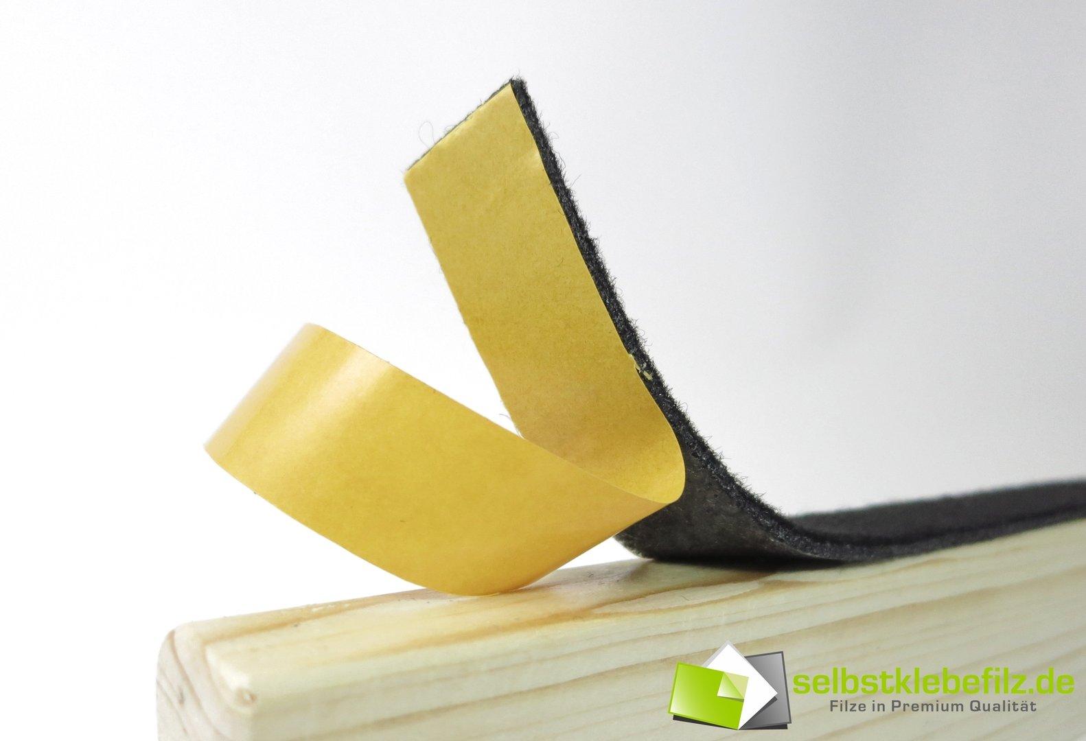 Filzstreifen 80mm Filzband weiß ab 1m 3mm dick stark selbstklebend