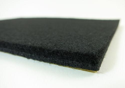 Filzgleiter quadratisch ab 5x5cm, 6mm dick | selbstklebend | schwarz