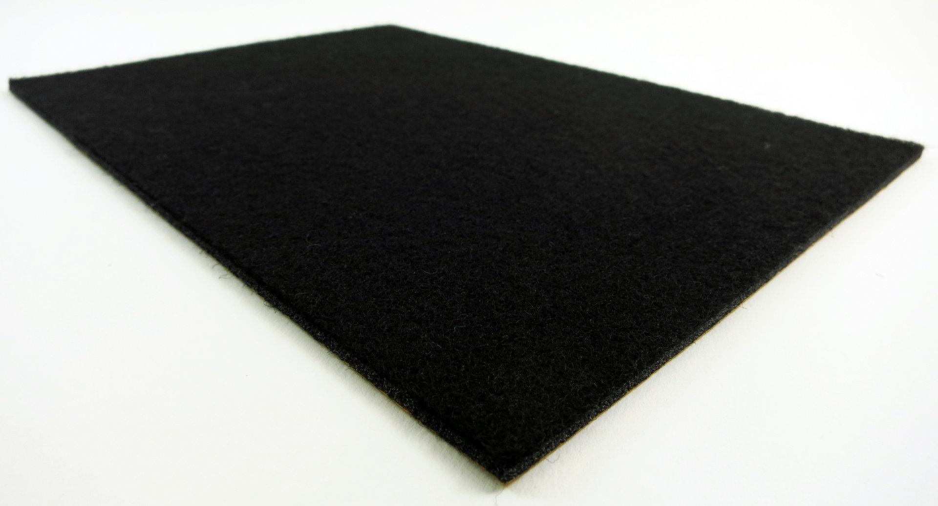 Filzplatte selbstklebend - DIN Formate 3mm dick | schwarz, anthrazit, braun, weiss