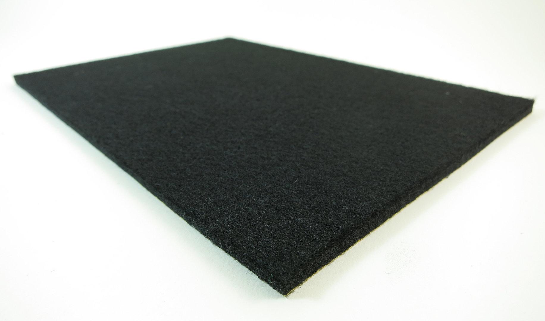 Filzplatte selbstklebend - DIN Formate 6mm dick | schwarz