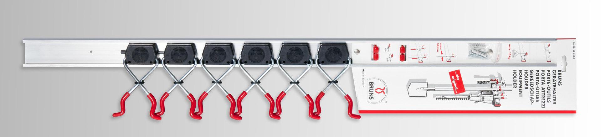 Bruns SB 6.10 A - 6 Gerätehalter mit 1m Schiene