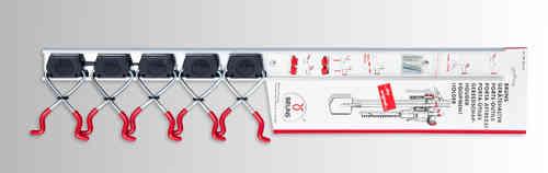 Bruns SB 5.07 - 5 Gerätehalter mit 0,75m Schiene