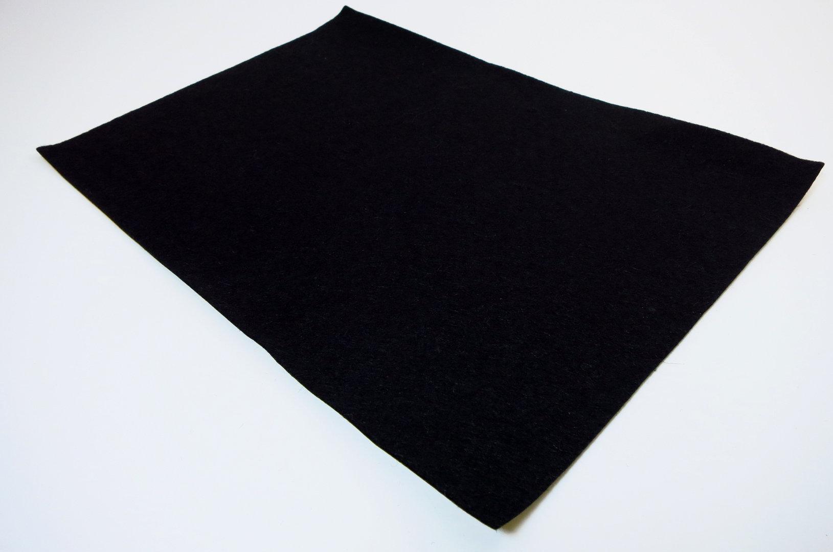 Filzgleiter Meterware 1mm dick | schwarz | Breite 100cm, selbstklebend