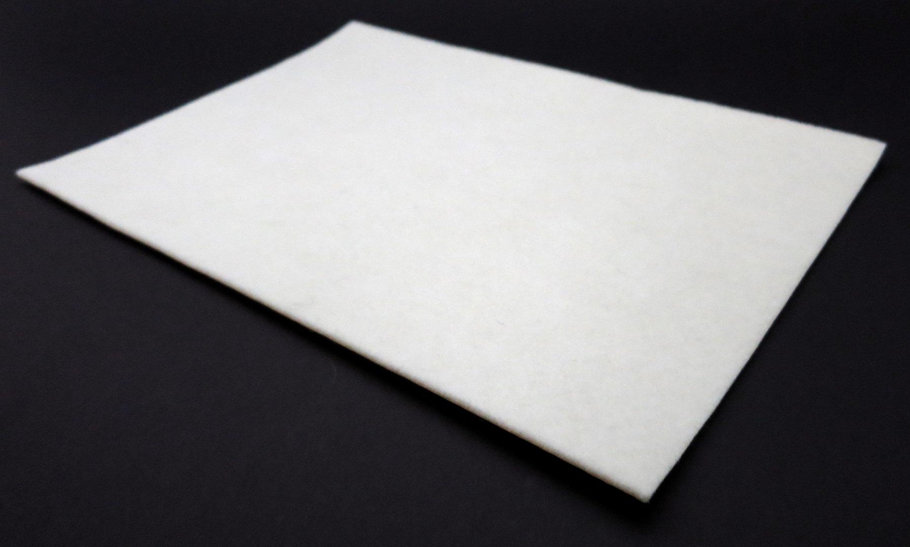 Filzplatte selbstklebend - DIN Formate 2mm dick | weiß