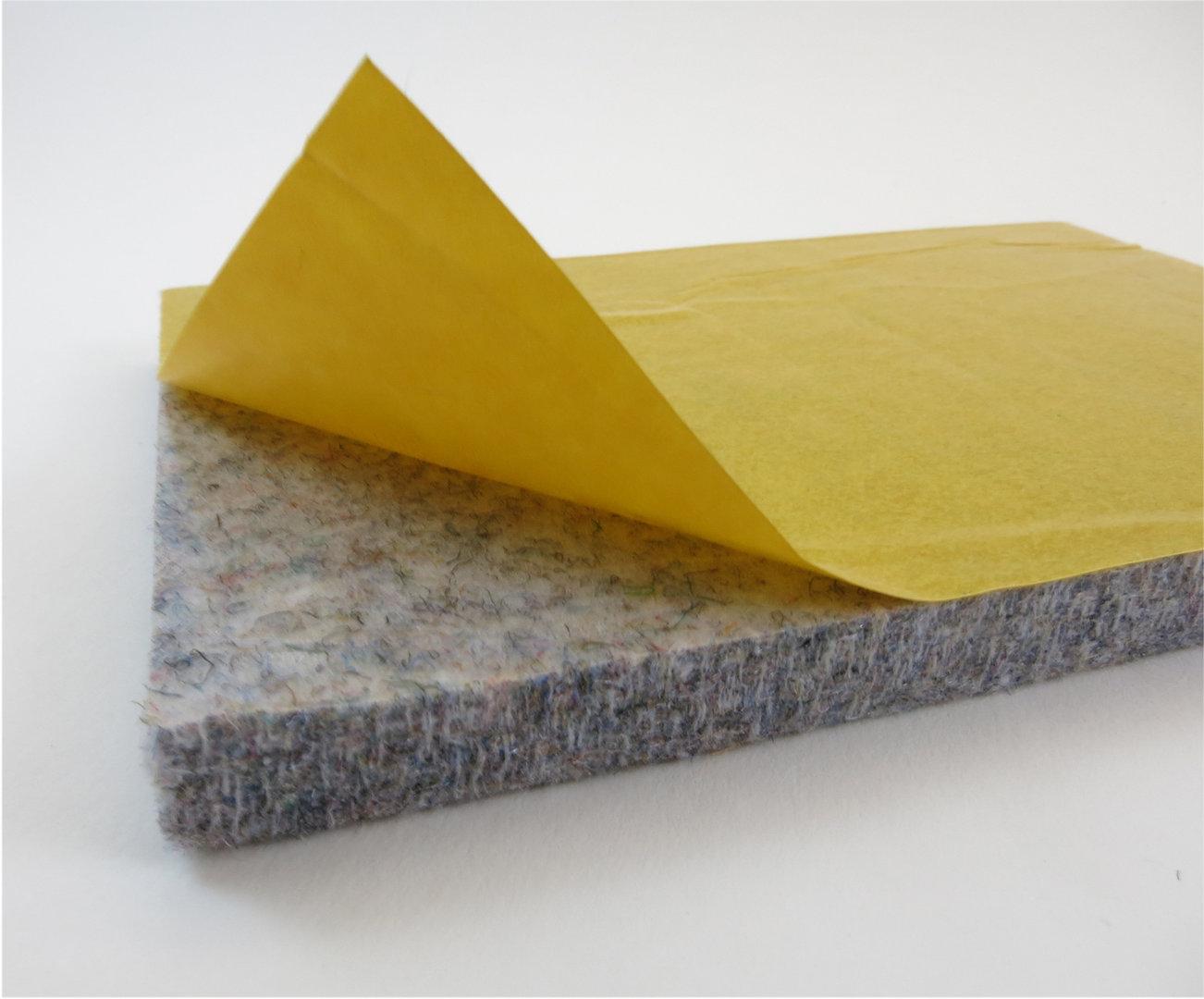 Filzplatte selbstklebend - DIN Formate 10mm dick   grau meliert