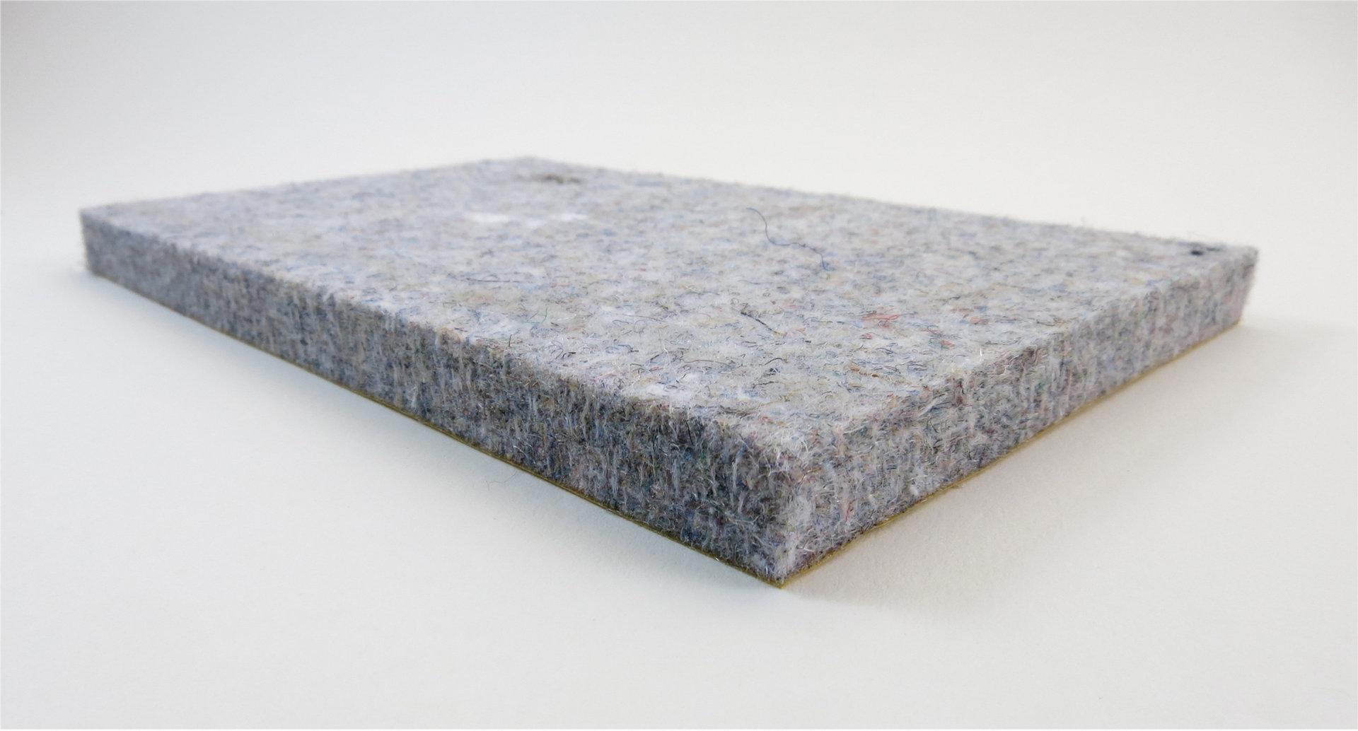 Filzgleiter quadratisch ab 5x5cm, 10mm dick | selbstklebend | grau meliert