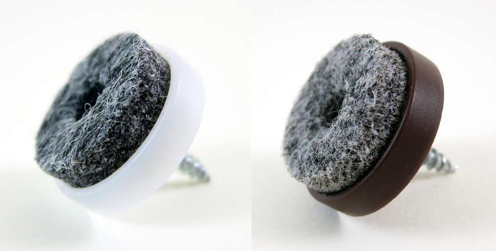 16 Filzgleiter zum schrauben rund Ø 40 mm Kunststoff Gleiter Möbelgleiter Stuhl