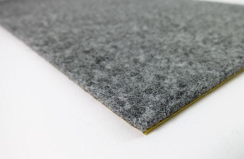 Filz Meterware 3mm dick | grau meliert | Breite 100cm, selbstklebend